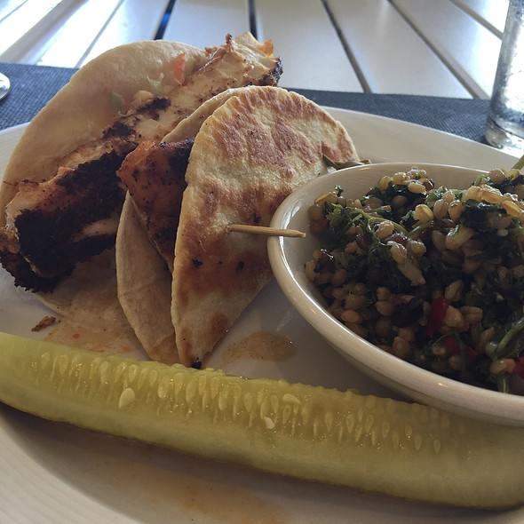 Blackened Mahi Mahi Tacos @ Coconuts On The Beach, Hilton Singer Island
