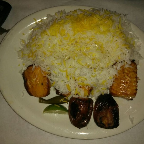 Alborz persian cuisine salmon with white rice foodspotting for Alborz persian cuisine
