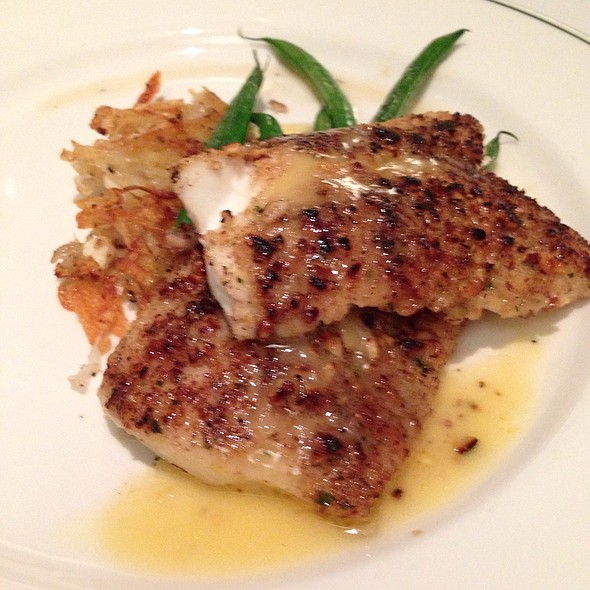 Pecan Crusted Flounder With Potato And Celery Root Rosti