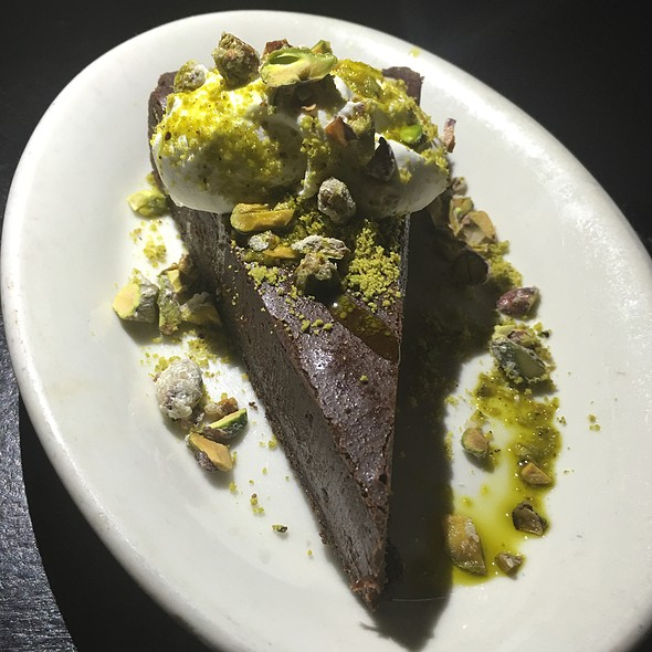 Chocolate And Pistachio Tart