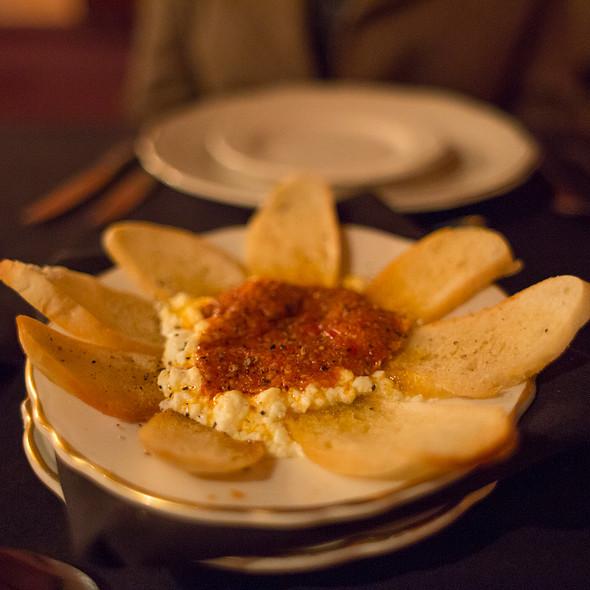 Baked Feta with Tomato Pesto - The Library Restaurant - Myrtle Beach, Myrtle Beach, SC
