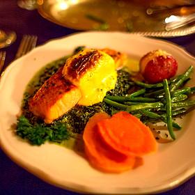 Baked Salmon - The Library Restaurant - Myrtle Beach, Myrtle Beach, SC