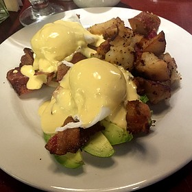 Eggs Benedict with Bacon and Avocado
