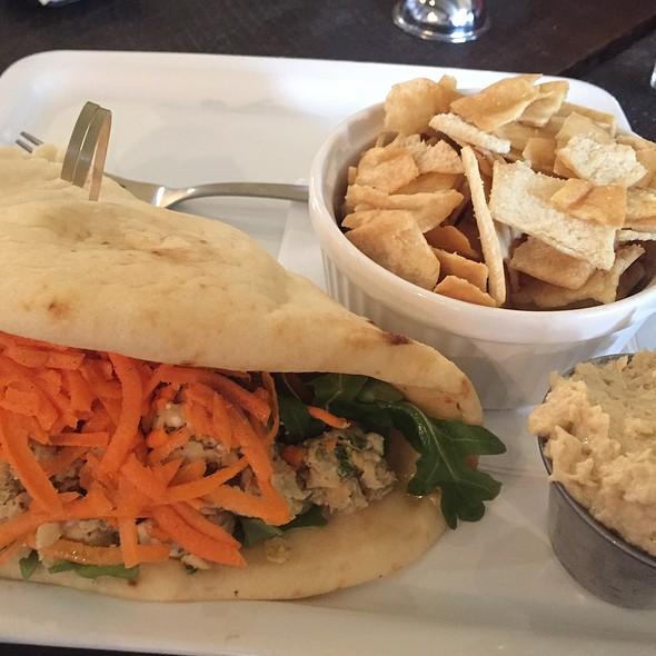 Veggie Naanwich W/ Hummus @ Eurasia Coffee And Tea