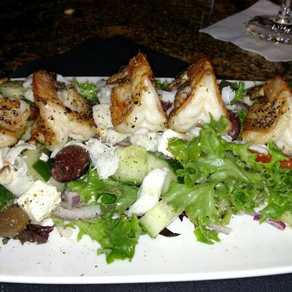 The Greek Salad With Extra Jumbo Blackened Shrimp And Jumbo Lump Crabmeat