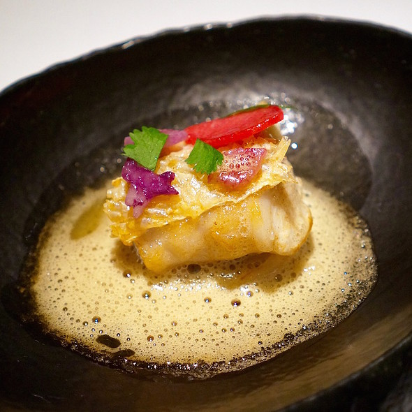 Golden tile fish, banyuls brown butter gastrique, radish - TRU, Chicago, IL