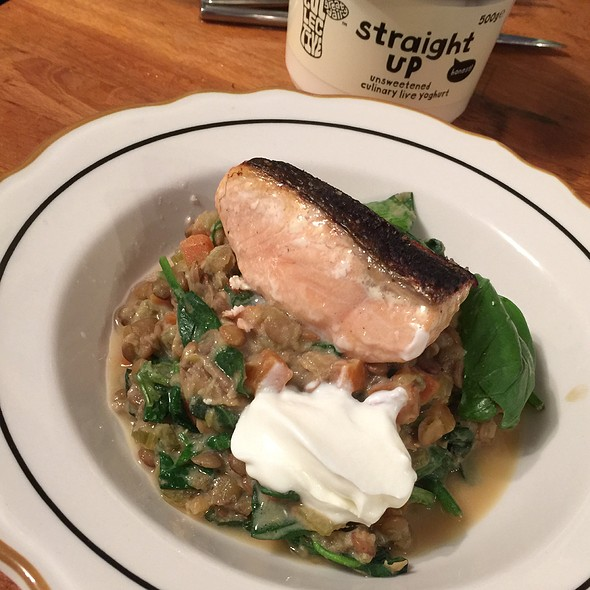 Salmon & Lentils @ My Home, UK