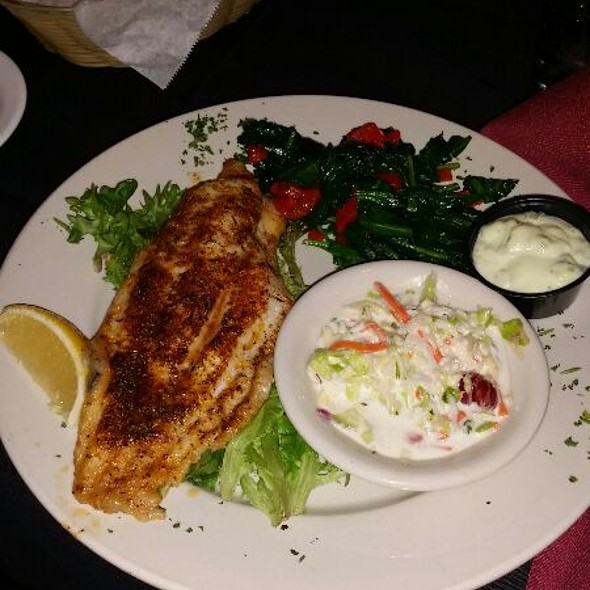12oz Roster Blackened Catfish Plate @ Norman's Bistro