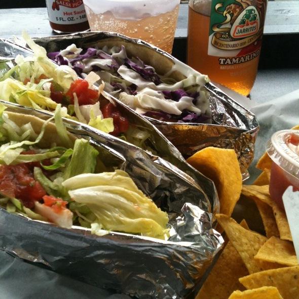 Fish Taco And Dakota Beef Taco (and a Tamarindo) @ Badlands Taco Inc