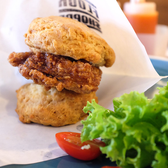 Fried Chicken Biscuit @ Flour Shoppe