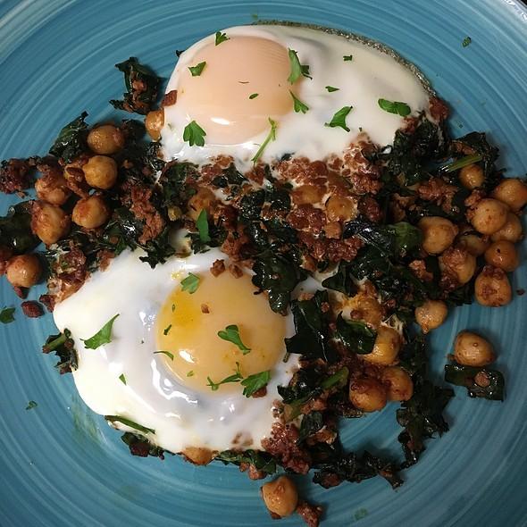 Kale, Chick Peas And Soyrizo Egg Bake