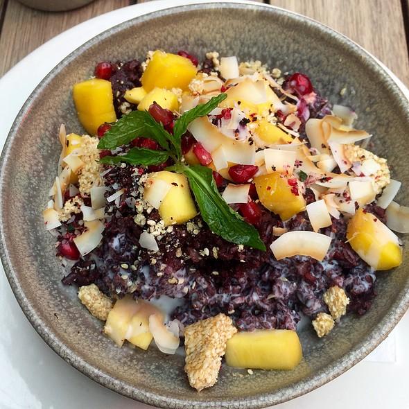 Black Rice And Coconut Porridge