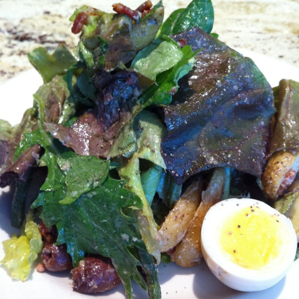 Mixed Greens With Bacon Dressing - Northeast Social