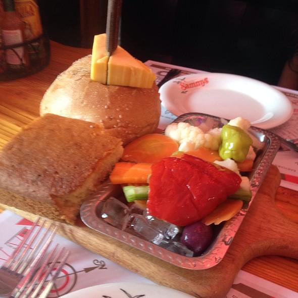 Bread/ Cornbread And Pickled Veggies @ Sammy's SHRIMP BOX