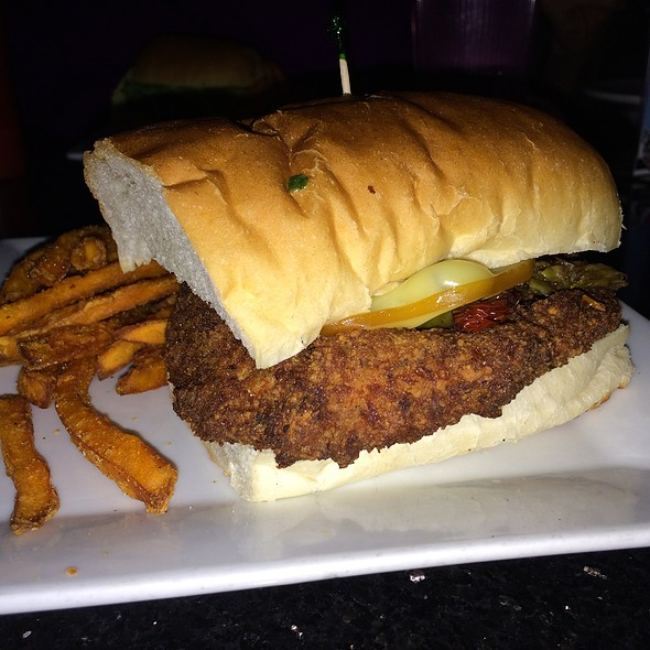 Parmesan Sage Crusted Chicken Sandwich with Sweet Potato Fries