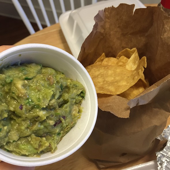 Cup Of Guacamole Comes With A Bag Of Chips