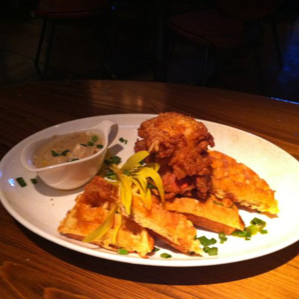 Country Fried Lobster and Waffles @ First Food & Bar