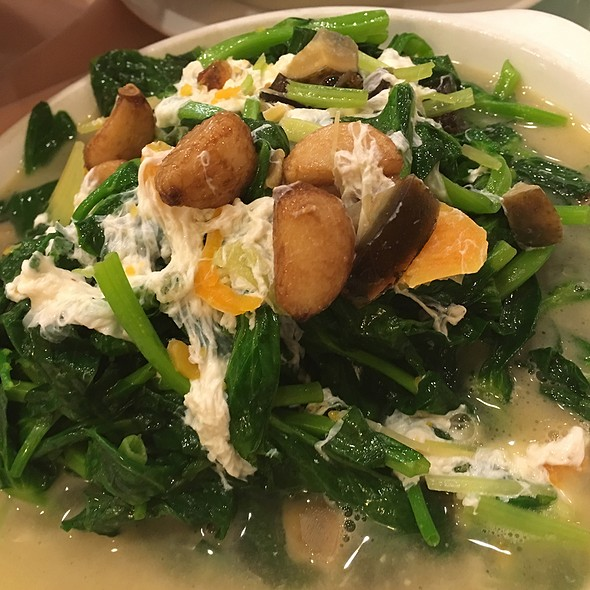 Spinach with Preserved & Salted eggs @ East Harbor Seafood Palace