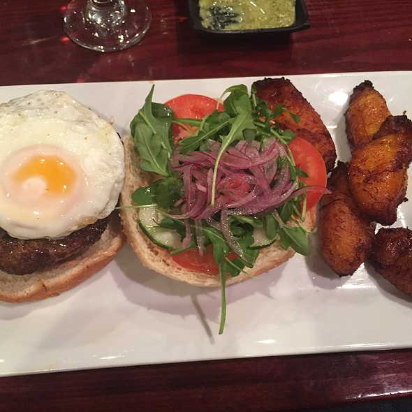 Peruvian Beef Burger - Costanera Restaurant, Montclair, NJ
