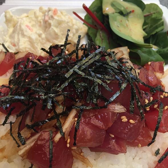 Ahi Poke With Salad @ Sam's Kitchen