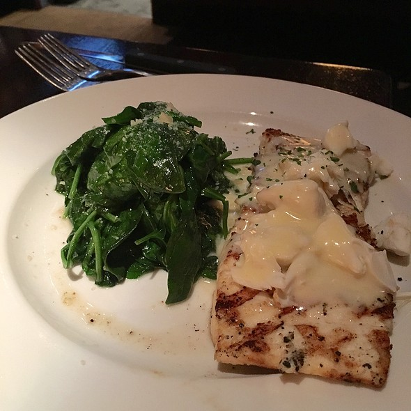 Halibut And  Garlic Spinach
