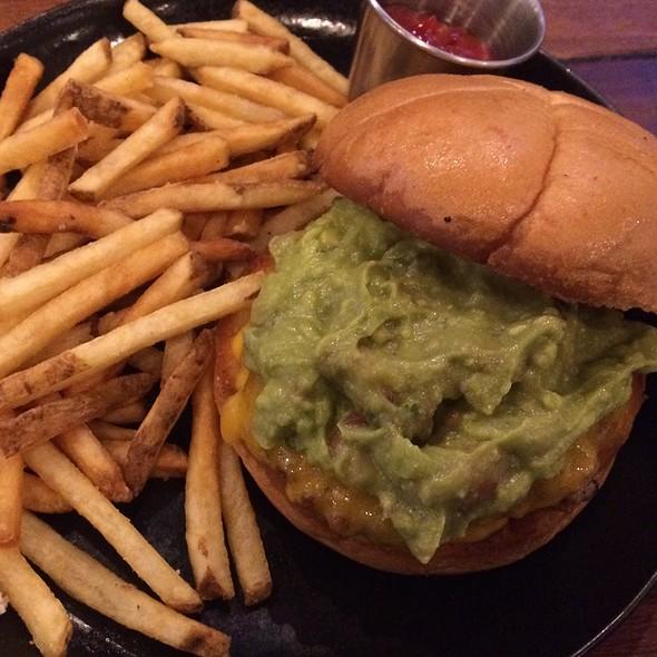 Chili Verde Burger @ Square Barrels