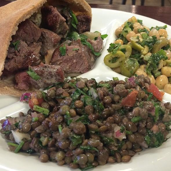 Lamb Kabob Sandwich @ Neomonde