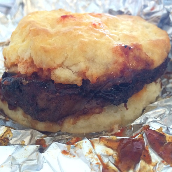 Braised Korean Bbq Beef Biscuit @ Rise Biscuits & Donuts