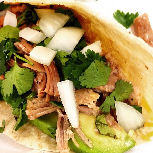 Carnitas Tacos/ Smoked Pork Carnitas/ Pineapple Slaw