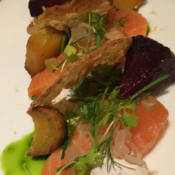 Salmon With Dill Beets And Creme Fraiche