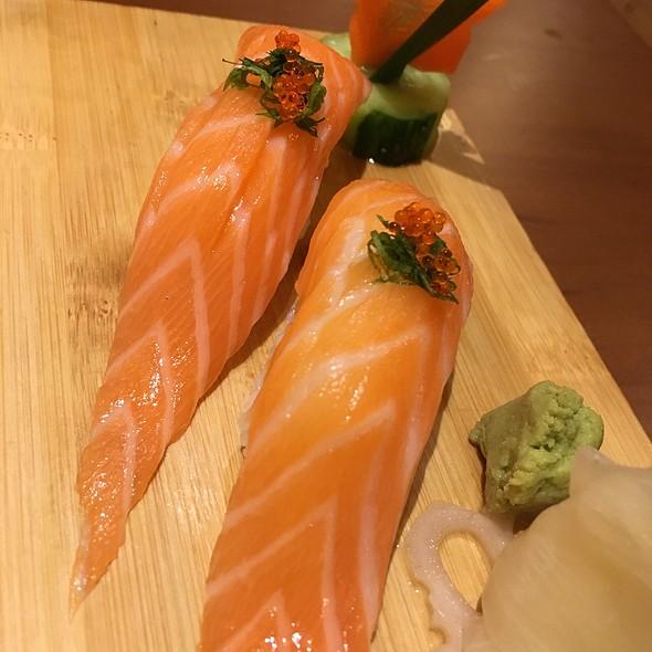 Salmon sushi @ Japanese Restaurant