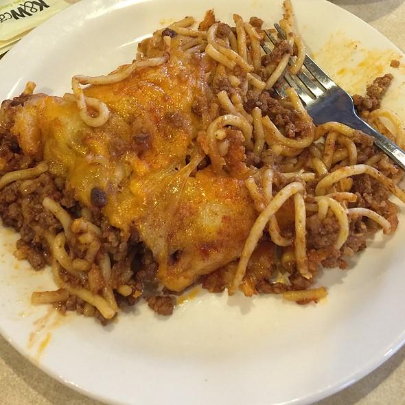 baked spaghetti @ K&W