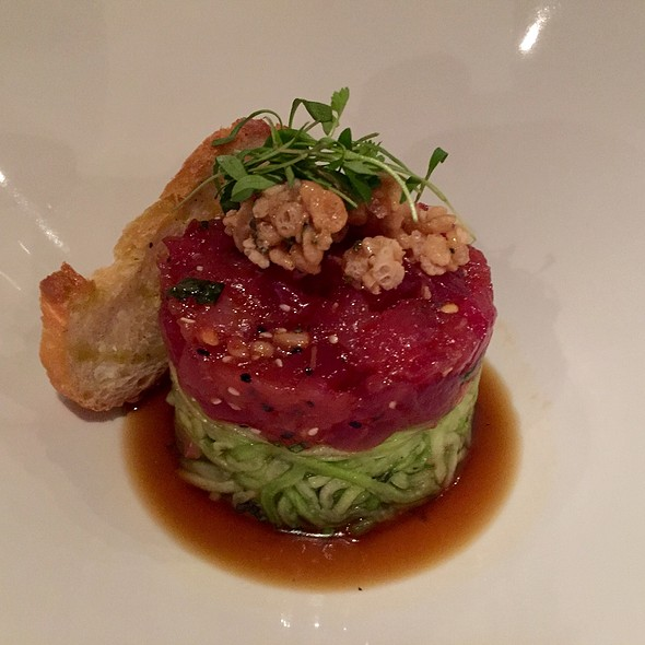 Ahi Tuna Tartare With Cucumber, Pine Nuts, Chili, And Soy