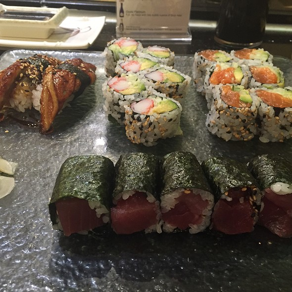 Three Roll Combo With Eel Sushi