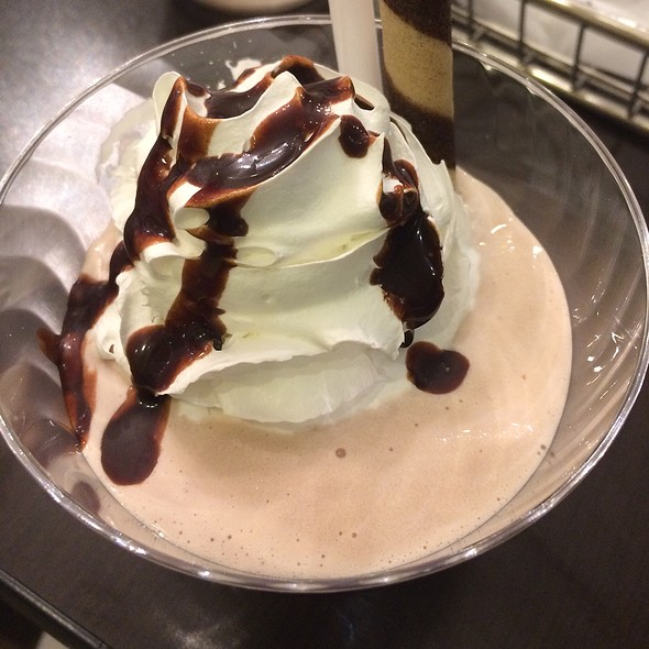 Godiva Chocolate & Cabernet Shake With Black Cherry Whipped Cream