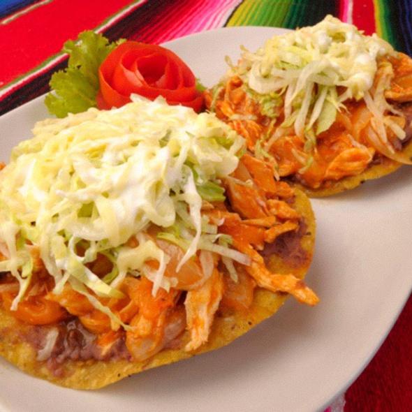 Chicken Tinga Tostadas @ Tacos & Salsa