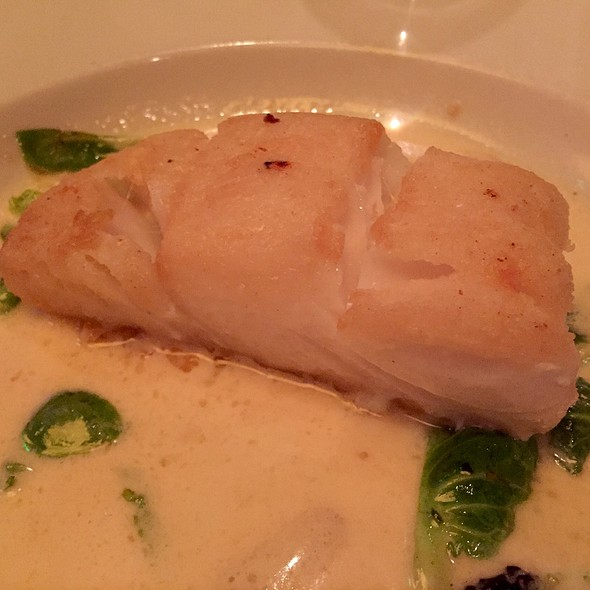 Roasted Icelandic Cod With Brussels Sprouts Leaves - Wildfish Seafood Grille - Scottsdale, Scottsdale, AZ
