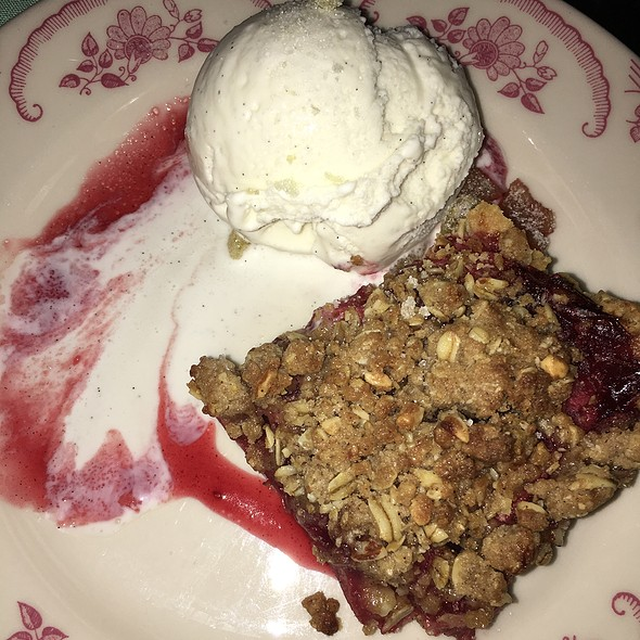 Cranberry And Apple Slab Pie at Bud & Marilyn's in Philadelphia, Pa