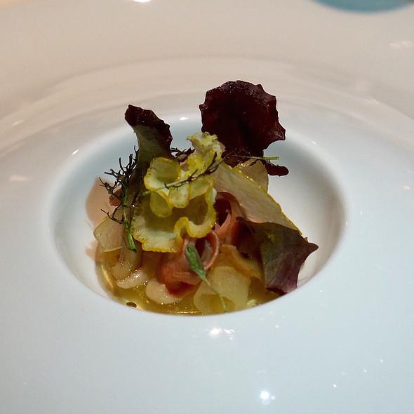Salad of Peking duck breast, chestnut, pear, citron @ Sixteen