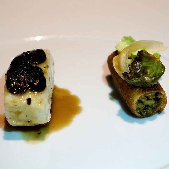 Brittany turbot cooked in brioche, truffle, salsify, Brussels sprouts @ Sixteen