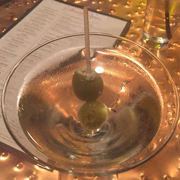 Dirty Martini With Blue Cheese Olives