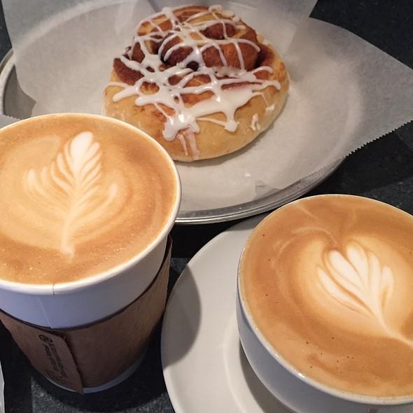 Cinnamon Roll And Lattes @ Rachel K's Bakery
