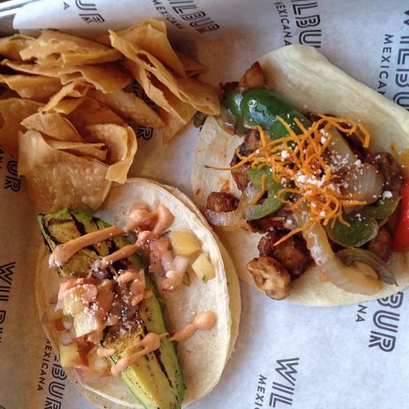Grilled Avocado & Mushroom Taco @ Wilbur Mexicana