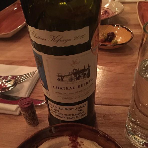 Wine Red - Kefraya 2010 @ Damas