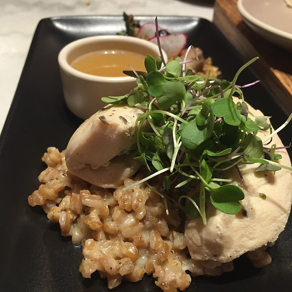 Capon With Farro Risotto