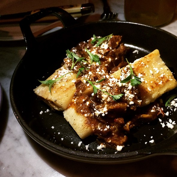 Lamb Neck King Oyster Mushroom Tamale @ Broken Spanish