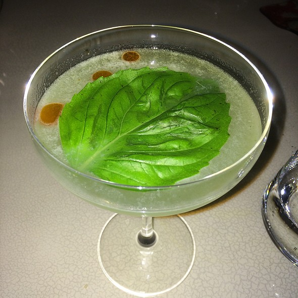 """Basil Chili Smash"" Gin, Lemon, Basil, Chili Oil"