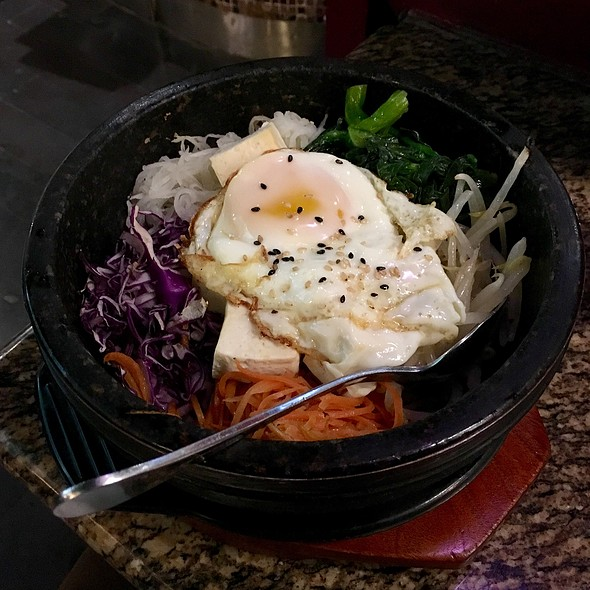 Bibimbap With Steamed Tofu @ Kobe Well Being Tonkatsu