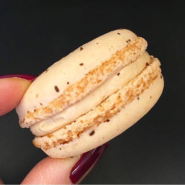Coffee Salted Caramel Macaron