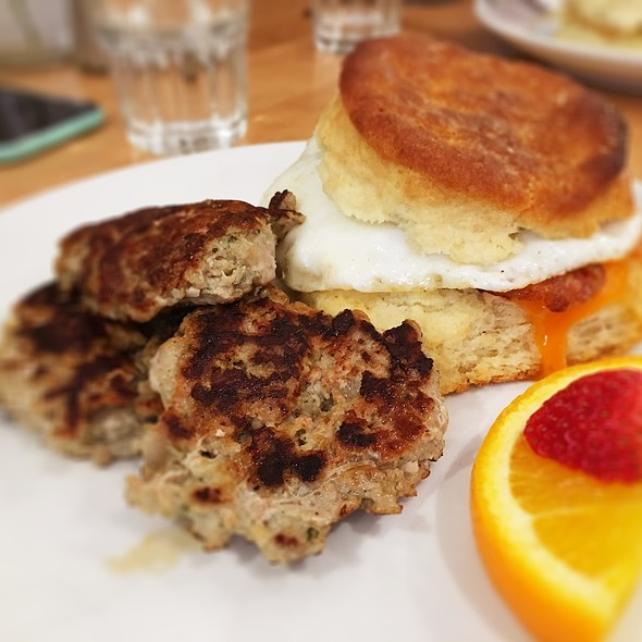 Breakfast Biscuit Sandwich With Sausage